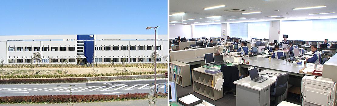 研究棟 / 仕切りのない風通しの良い職場環境です。